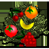 Rainbow Girl Collecting Fruits